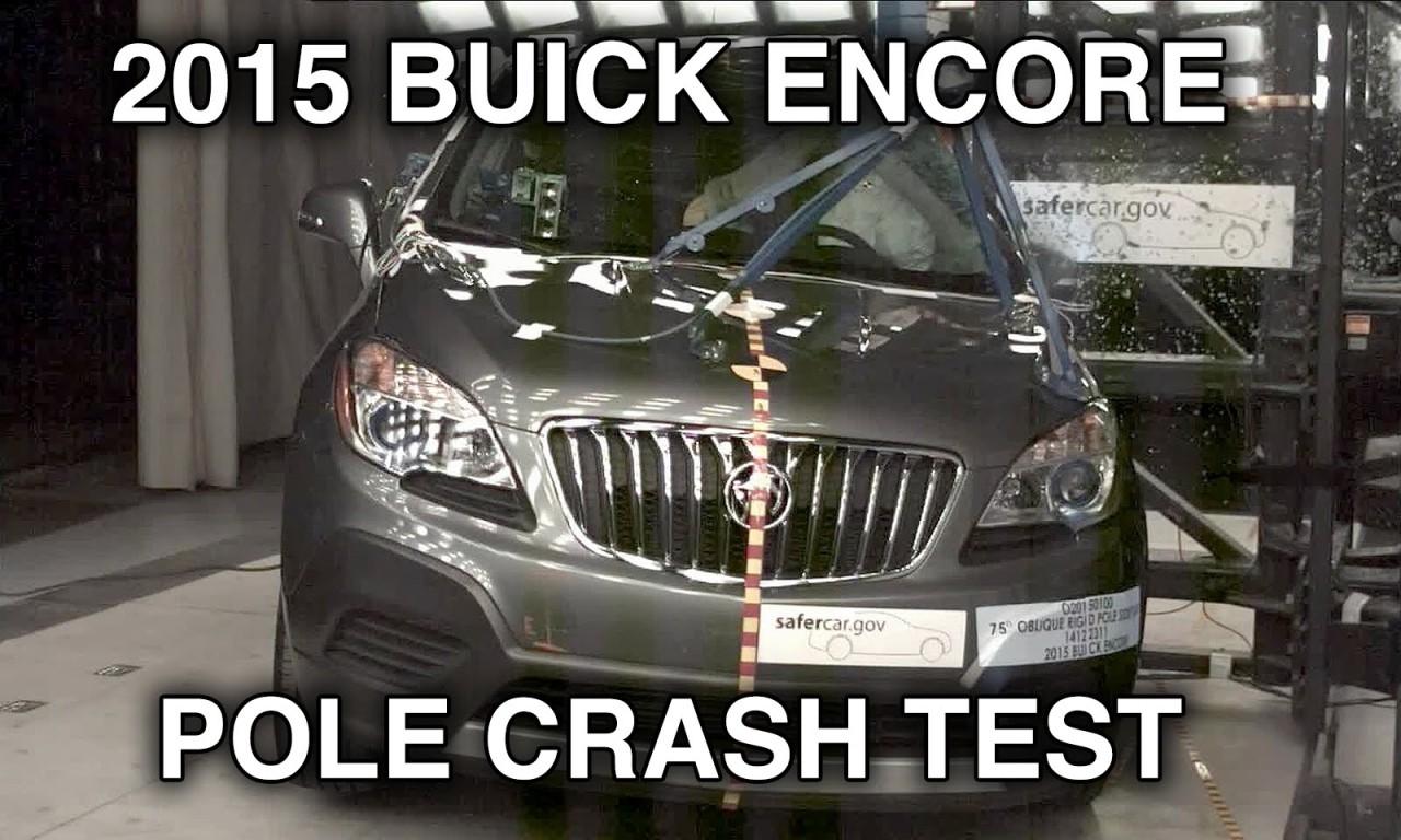 2015 Buick Encore Opel Mokka Crash Test Side Pole Crashnet1