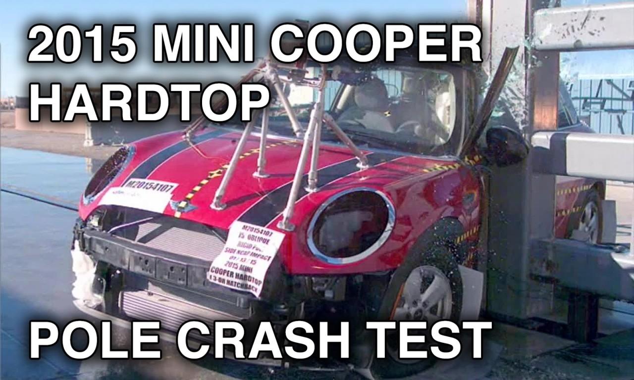 2015 Mini Cooper Hardtop Crash Test Side Pole Crashnet1