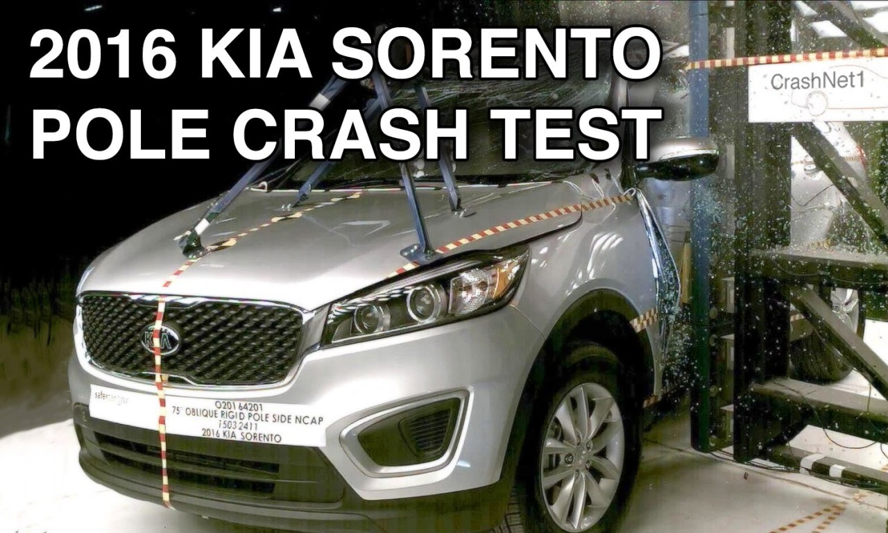 2016 kia sorento crash test side pole crashnet1. Black Bedroom Furniture Sets. Home Design Ideas