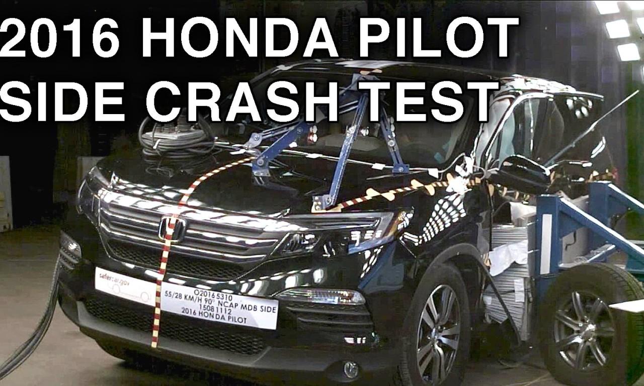 2016 honda pilot crash test side crash crashnet1. Black Bedroom Furniture Sets. Home Design Ideas